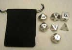 10x Sets of 7 Metal Polyhedral Dice